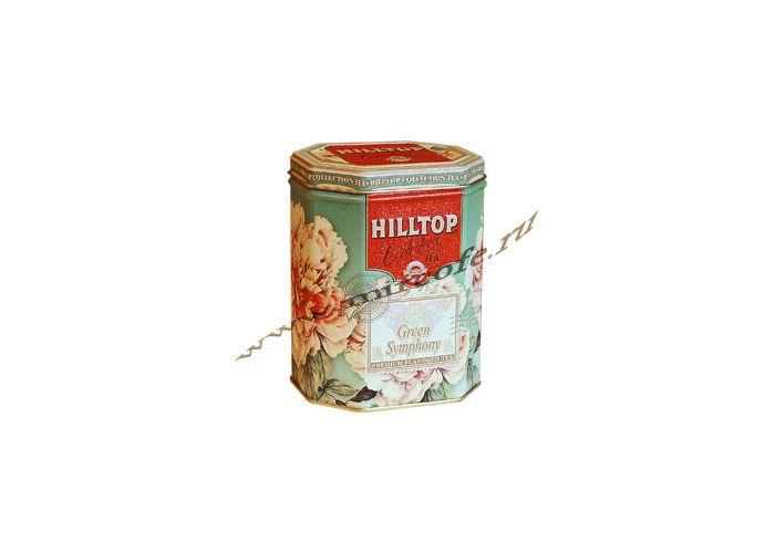 Чай hilltop в жестяной шкатулке зеленая симфония